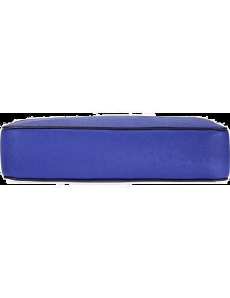 Chic Time | Sac à bandoulière Michael Kors Jet Set en cuir bleu Saffiano  | Prix : 195,00€