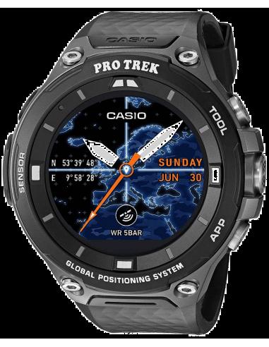 Chic Time | Montre Connectée Casio Protrek GPS Smartwatch WSD-F20-BKAAU  | Prix : 599,00€