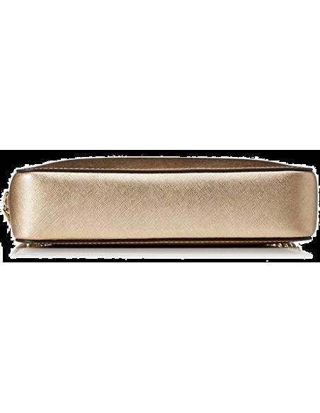 Chic Time | Sac à bandoulière Michael Kors Jet Set en cuir or Saffiano  | Prix : 195,00€