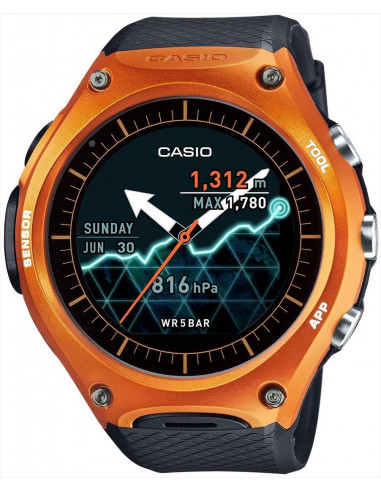 Chic Time | Montre Connectée Casio Protrek GPS Smartwatch WSD-F10RG  | Prix : 399,00 €