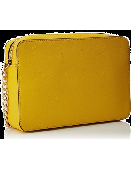 Chic Time | Sac à bandoulière Michael Kors Jet Set en cuir jaune Saffiano  | Prix : 195,00€