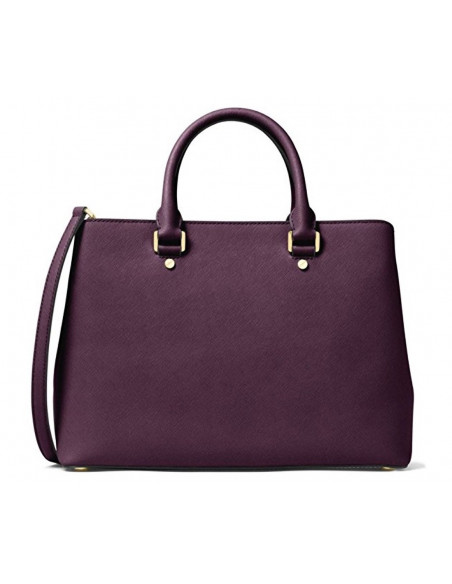Chic Time | Sac à main grand Michael Kors Savannah en cuir violet Saffiano  | Prix : 375,00€