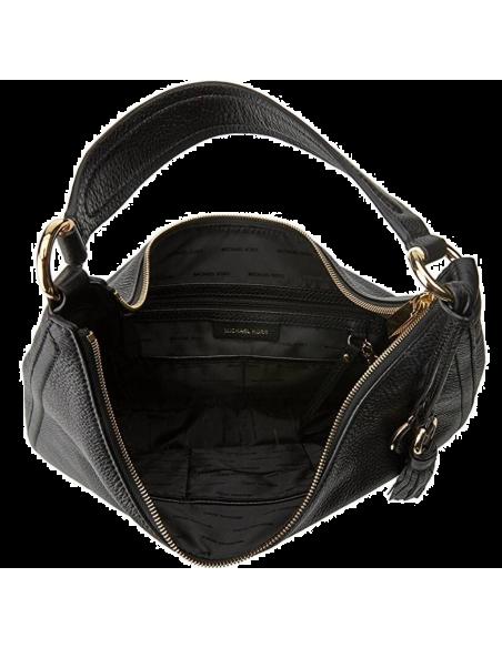 Chic Time | Sac à main Michael Kors Lydia en cuir noir  | Prix : 295,00€