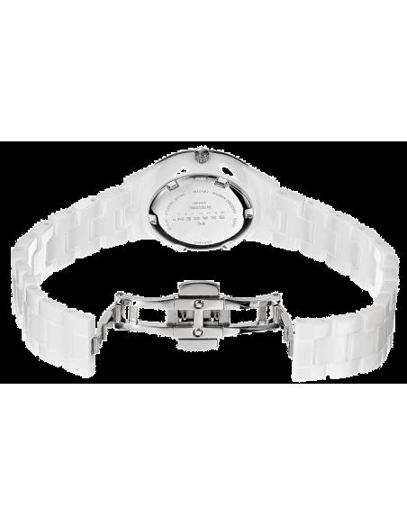 Chic Time   Montre Femme Skagen 347SSXWC Céramique Blanche ornée de strass    Prix : 183,20€