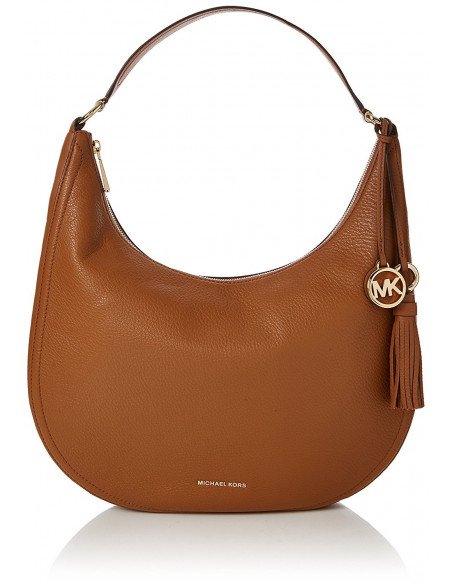 Chic Time | Sac à main Michael Kors Lydia en cuir brun  | Prix : 295,00€