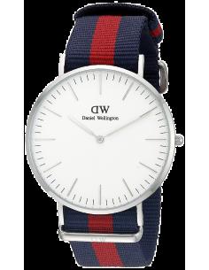 Chic Time | Montre Homme Daniel Wellington Classic Oxford 0201DW Rouge et Bleu  | Prix : 95,40€