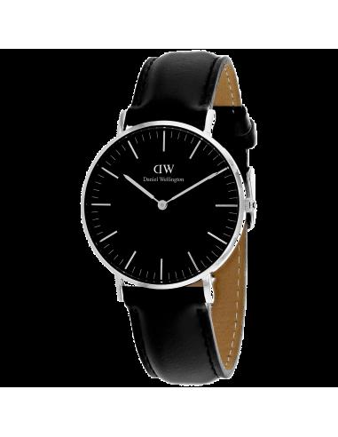 Chic Time | Montre Femme Daniel Wellington Classic Black Sheffield Silver DW00100145  | Prix : 169,15€