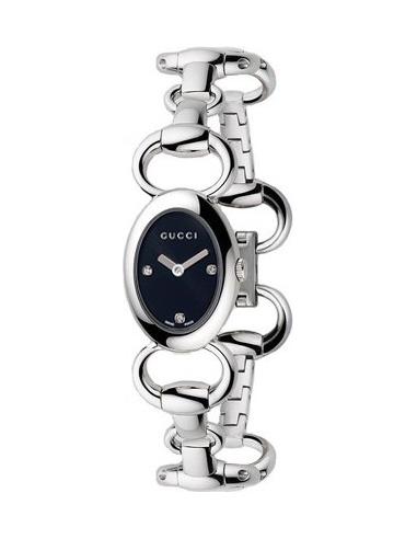 Chic Time | Montre Femme Gucci Tornabuoni Oval Diamond YA118503  | Prix : 875,00€