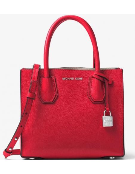 Chic Time | Sac à main Michael Kors Mercer en cuir rouge  | Prix : 299,00€