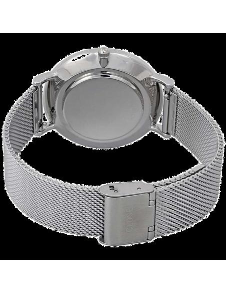 Chic Time   Montre Cluse La Bohème CL18106 Mesh Silver/Black bracelet en maille milanaise argenté    Prix : 89,95€