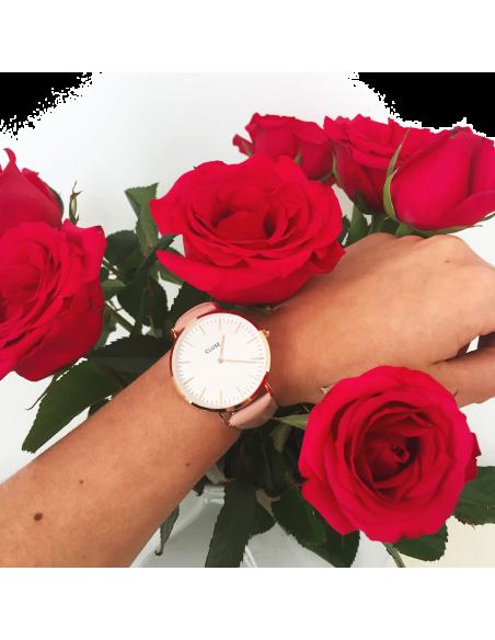 Chic Time | Montre Cluse La Bohème CL18014 Rose Gold White/Pink  | Prix : 67,46€