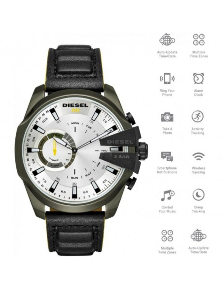 Chic Time | Montre Connectée Diesel Mega Chief Smartwatch DZT1012  | Prix : 263,20 €