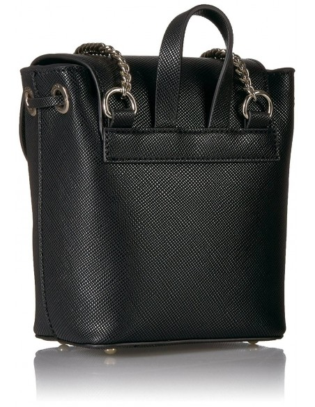 Chic Time | Sac Bandoulière Guess Varsity Pop-Pin Up Noir  | Prix : 119,00 €