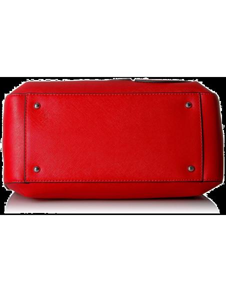 Chic Time | Sac à main Guess Britta Small Rouge  | Prix : 209,00€