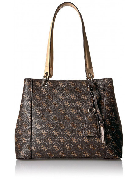 Chic Time | Sac à Main Guess Kamryn Q Logo Shopper Marron  | Prix : 179,00 €