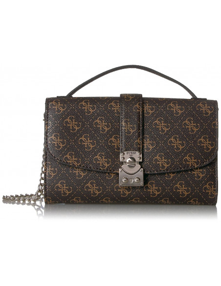 Chic Time | Pochette Sac Guess Joslyn Marron  | Prix : 149,00 €