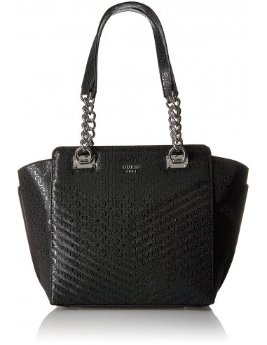 Chic Time | Sac à Main Guess Halley Quilted Noir  | Prix : 189,00 €