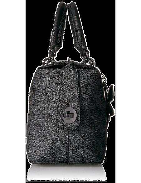 Chic Time | Sac à main Guess Sibyl Logo Basique Noir  | Prix : 159,00€