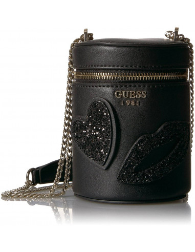 Chic Time | Sac Bandoulière Guess Ever After Cylindrique Noir  | Prix : 129,00 €