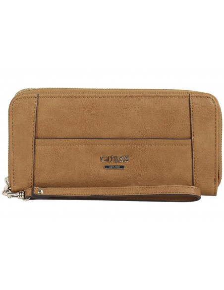 Chic Time | Portefeuille Guess Huntley Marron  | Prix : 79,00€
