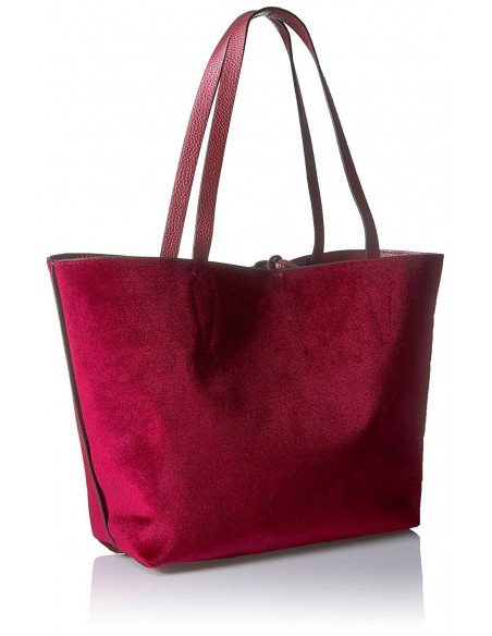 Chic Time | Sac à Main Guess Bobbi Velvet Bordeaux  | Prix : 149,00 €