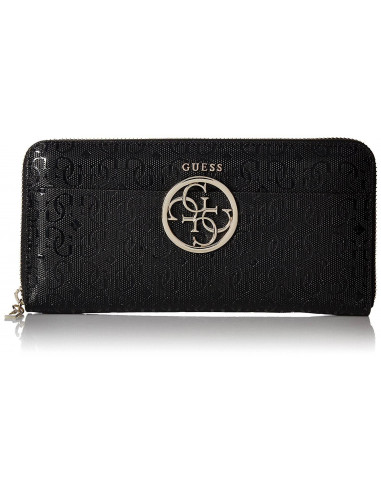 Chic Time | Portefeuille Guess Kamryn G-Shine Noir  | Prix : 89,00 €