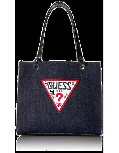 Chic Time | Sac a main Guess Varsity Pop Denim Shopper  | Prix : 219,00€