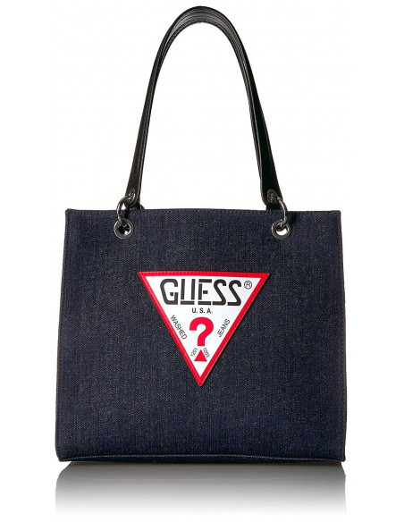 Chic Time | Sac a main Guess Varsity Pop Denim Shopper  | Prix : 219,00 €