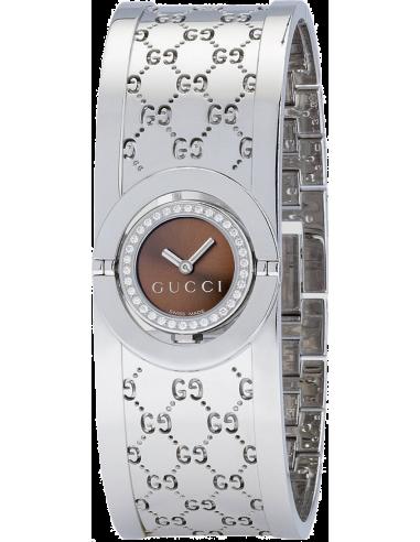 Chic Time   Montre Femme Gucci The Twirl Diamond YA112503    Prix : 1,550.00