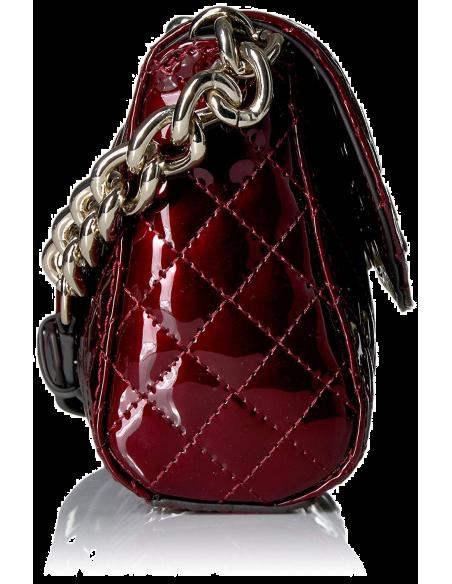 Chic Time | Sac bandoulière Guess G-Lux Bordeaux Brillant  | Prix : 159,00€