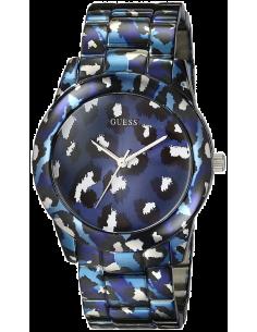 Chic Time | Montre Femme Guess Leopard W0425L1 Bleue  | Prix : 279,00€