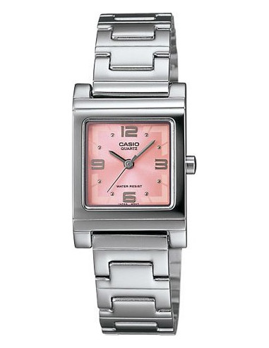 Chic Time | Montre Femme Casio LTP-1237D-4ADF Argent Cadran rose  | Prix : 46,99€