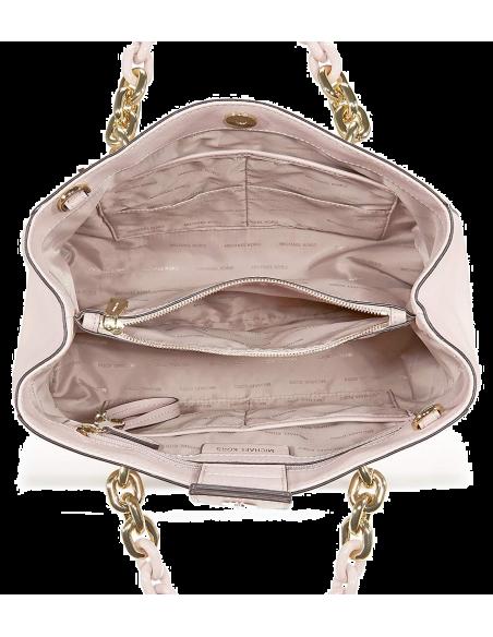 Chic Time   Sac à main Michael Kors Cynthia en cuir rose clair Saffiano    Prix : 375,00€