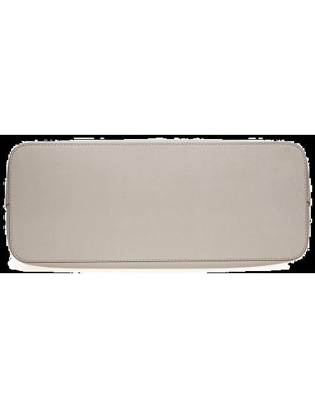 Chic Time | Sac à main Michael Kors Jet Set en cuir gris clair Saffiano à glissière sur le dessus  | Prix : 249,00€