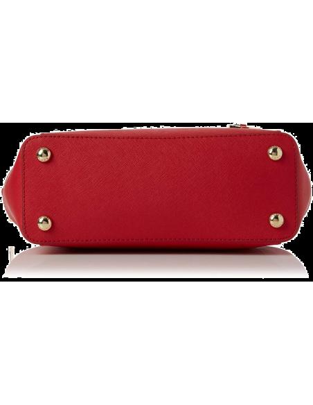 Chic Time | Sac à main Michael Kors Sac Jet Set en cuir Rouge saffiano à glissière  | Prix : 299,00€