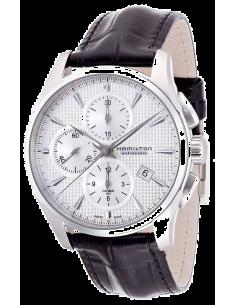 Chic Time | Montre Hamilton H32596751 Jazzmaster chronographe automatique cadran argent  | Prix : 1,403.00