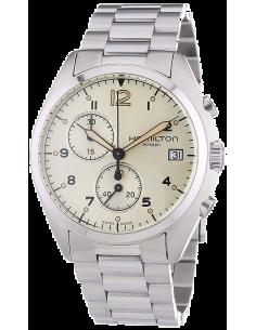 Chic Time | Montre Hamilton H76512155 Pilot Pioneer Chrono quartz acier  | Prix : 467,10€