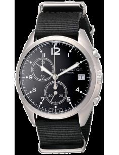 Chic Time   Montre Hamilton H76552433 Pilot Pioneer chrono textile cadran noir 41 mm    Prix : 471,00€