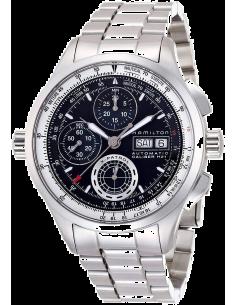 Chic Time | Montre Hamilton H76556131 X-Patrol chronographe bracelet acier cadran noir  | Prix : 1,451.00