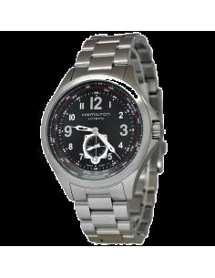 Chic Time   Montre Hamilton H76655133 Khaki QNE Aautomatique acier cadran noir    Prix : 971,00€