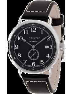 Chic Time   Montre Hamilton H78415733 Khaki Navy Pioneer bracelet cuir noir cadran noir    Prix : 869,00€