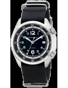 Chic Time | Montre Hamilton H76455933 Khaki Aviation Pilot Pioneer automatique cadran noir bracelet NATO  | Prix : 820,00€