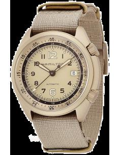 Chic Time   Montre Hamilton H80435895 Khaki Aviation Pilot Pioneer Aluminium automatique bracelet NATO couleur sable    Prix ...