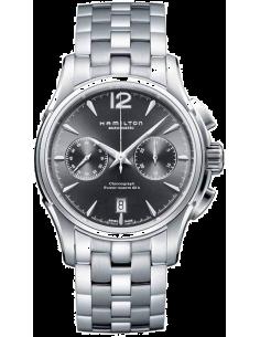 Chic Time | Montre Hamilton H32606185 Jazzmaster auto chrono deux zones cadran ardoise bracelet acier  | Prix : 1,451.00