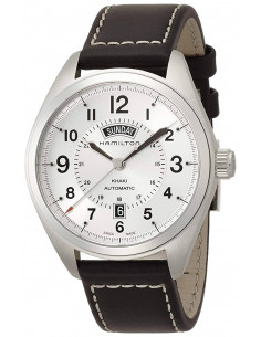 Chic Time   Montre Hamilton H70505753 Khaki Field Day Date automatique bracelet cuir cadran argent    Prix : 650,70€