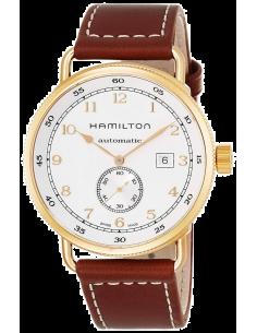 Chic Time   Montre Hamilton H77745553 Khaki Navy Pioneer automatique petite seconde pvd or rose    Prix : 1,063.00