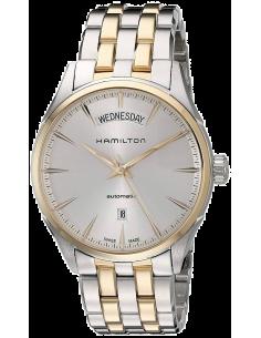 Chic Time | Montre Hamilton H42525251 Jazzmaster Day Date automatique 42mm acier et pvd or rose bracelet bicolore  | Prix : 9...