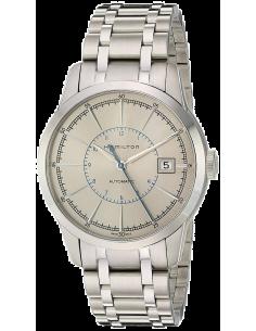 Chic Time | Montre Hamilton H40555181 Railroad Automatique trois aiguilles cadran argenté bracelet acier  | Prix : 995,00€