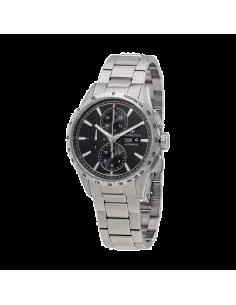 Chic Time | Montre Hamilton H43516131 Broadway automatique chronographe acier cadran noir 43 mm  | Prix : 1,705.50