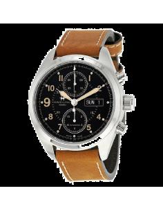 Chic Time | Montre Hamilton H71616535 Khaki Field Auto Chrono acier sur cuir vintage marron 42 mm  | Prix : 1,394.10